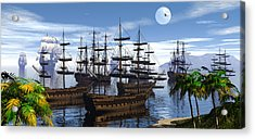 Acrylic Print featuring the digital art Whaling Off Lahaina 2 by Claude McCoy