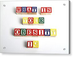 What Is Your Obesity Iq Acrylic Print by Photo Researchers