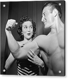 What Muscles! Acrylic Print by Archive Photos