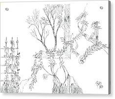 What Remains - Sketch Acrylic Print by Robert Meszaros