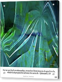 What We Are. Christian Poster Art Acrylic Print by Mark Lawrence