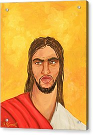 ''what Would Jesus Do'' Acrylic Print by Mccormick  Arts
