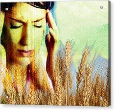 Wheat Allergy Acrylic Print by Hannah Gal