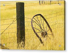 Wheel Looking For A Tractor Acrylic Print by Rich Franco