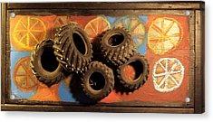 Wheels Acrylic Print by Krista Ouellette