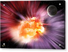 When Black-holes Collide Acrylic Print by Barry Jones