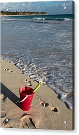 When Can We Go To The Beach? Acrylic Print by Karen Lee Ensley
