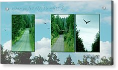 When Eagles Fly So Must I Acrylic Print