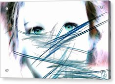 When She Looked Into The Mirror Acrylic Print by Gun Legler