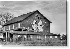 When The Farmer's Away Bw Acrylic Print by JC Findley