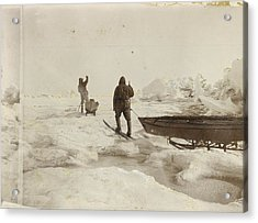When The Fram Did Not Reach The North Acrylic Print by Fridtjof Nansen