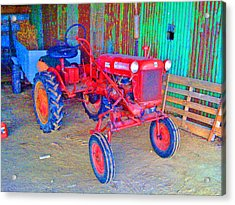 Acrylic Print featuring the photograph When Tractors Were Tractors by Duncan Pearson