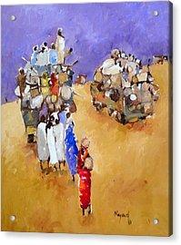 Where Are  Acrylic Print by Negoud Dahab