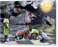 Acrylic Print featuring the digital art Where Do The Children Play? by Rosa Cobos