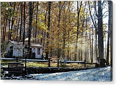 Where Fall Meets Winter Acrylic Print by Jennifer Compton