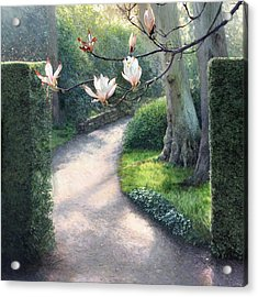 Where I Fell In Love Acrylic Print by Helen Parsley
