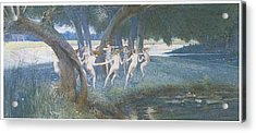 Where Rural Fays And Fairies Dwell Acrylic Print by Walter Jenks Morgan