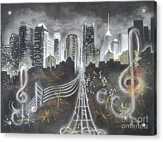 Where The Music Never Sleeps Acrylic Print