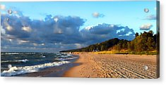 Where Water Meets Sand Acrylic Print