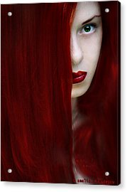 While Her Lips Are Still Red Acrylic Print by Amalia Iuliana Chitulescu