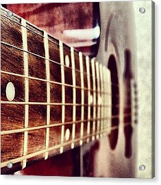 While My #guitar Gently #weeps Acrylic Print