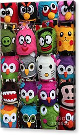 Whimsical Beanies - 5d18008 Acrylic Print by Wingsdomain Art and Photography