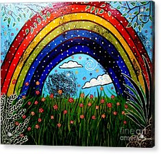 Whimsical Painting-whimsical Rainbow Acrylic Print by Priyanka Rastogi