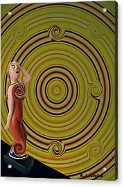 Whirlpool Confusion  Acrylic Print by Roland LaVallee