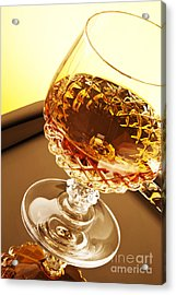 Whiskey In Glass Acrylic Print by Blink Images