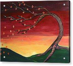 Whispering Autumn Tree Acrylic Print by Astrid Padilla