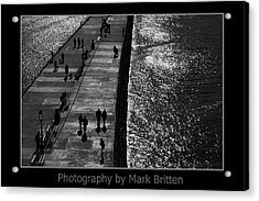 Whitby Harbour Acrylic Print by Mark Britten