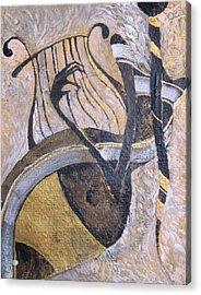 White And Gold Acrylic Print by Maya Manolova
