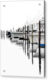 White Boats I Acrylic Print by Dan Carmichael