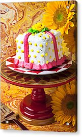 White Cake Acrylic Print by Garry Gay