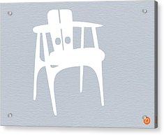 White Chair Acrylic Print