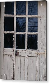 White Door Acrylic Print by Margaret Steinmeyer