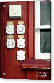 White Doorbells Acrylic Print by Carlos Caetano