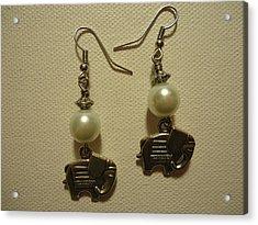 White Elephant Earrings Acrylic Print
