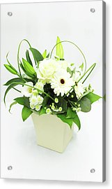 White Flower Bouquet Acrylic Print by © S.Musgrove