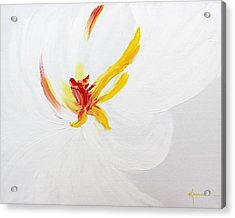 Acrylic Print featuring the painting White Flower by Kume Bryant