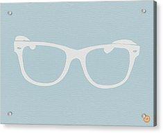 White Glasses Acrylic Print by Naxart Studio