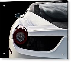White Italia Acrylic Print by Douglas Pittman