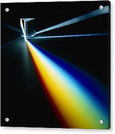 White Light Split Into Colours By A Prism Acrylic Print