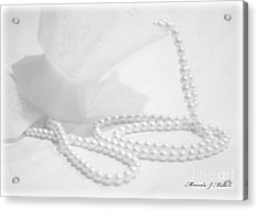 White Acrylic Print by Miranda Mehrer