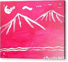 White Mountains Acrylic Print