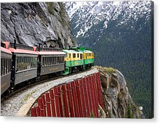 Acrylic Print featuring the photograph White Pass Train Ride by Laurel Talabere