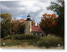 White River Lighthouse Acrylic Print by Richard Gregurich