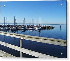 Acrylic Print featuring the photograph White Rock by Sheila Silverstein