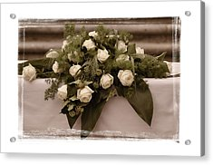 White Roses For The Wedding Acrylic Print by Mary Machare