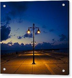 White Street Pier Lights Acrylic Print